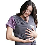 Baby Wrap Ergo Carrier Sling - by Sleepy Wrap - Available in 2 Colors - Baby Sling, Baby Carrier Wrap, Cuddle Up Baby Wrap - Specialized Baby Slings and Wraps for Infants and Newborn (Dark Grey)