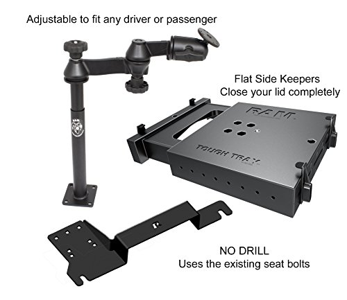 No-Drill Laptop Mount for the Ford Explorer and Police Interceptor Utility 2017