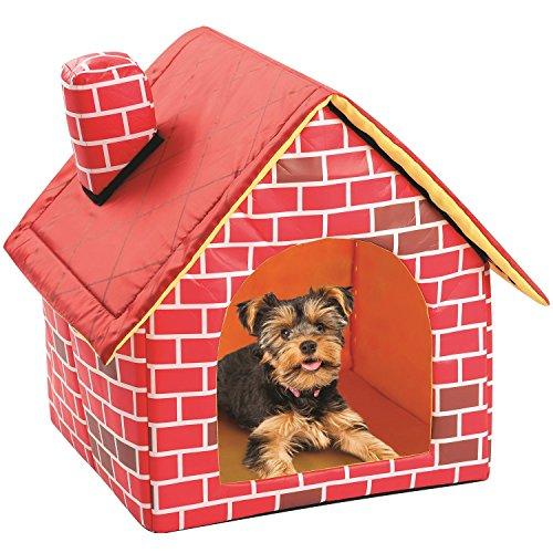 Cama de la habitación del gato de la casa de perro del animal doméstico del ladrillo del Portable al aire libre interior...