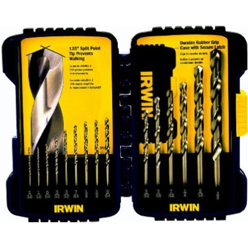 IRWIN Industrial Tools 316015 Cobalt Drill Bit Set, 15-Piece ()