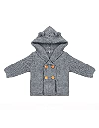 Baby Coat,amazingdeal Boy Knitting Cardigan Winter Solid Long Sleeve Hooded Sweaters