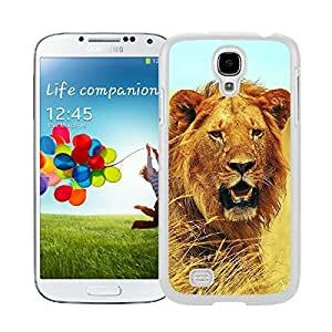 Amazing Samsung Galaxy S4 Case Coolest Lion Animal White Phone Hard Shell Back Cover Mate