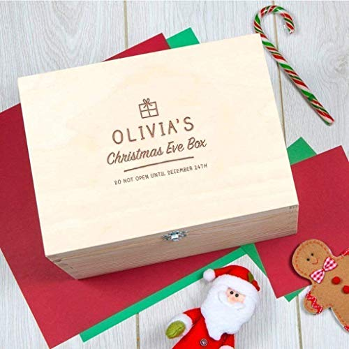 (Personalized Christmas Eve Box/Engraved Christmas Eve Box/Personalized Xmas Stocking Alternative/Personalized Christmas Gifts For Children/Christmas Box Gift)