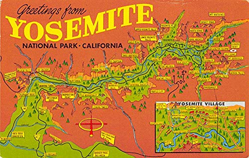 Greetings from Yosemite, National Park, California, USA USA Postcard Unused