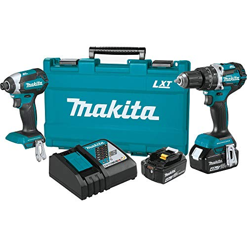 Makita XT269M-R 18V LXT Lithium-Ion Brushless 2-Piece Combo Kit (4.0 Ah) (Renewed)