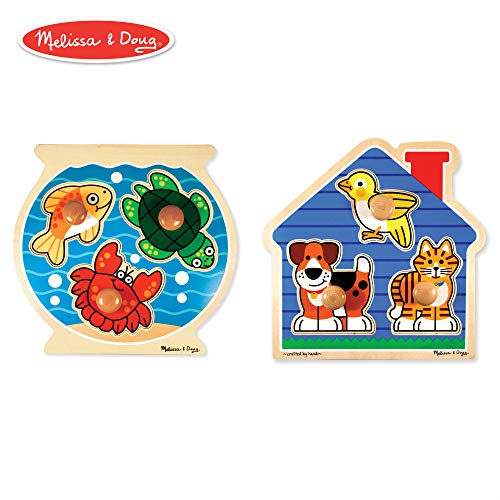 Melissa & Doug Animals Jumbo Knob Wooden