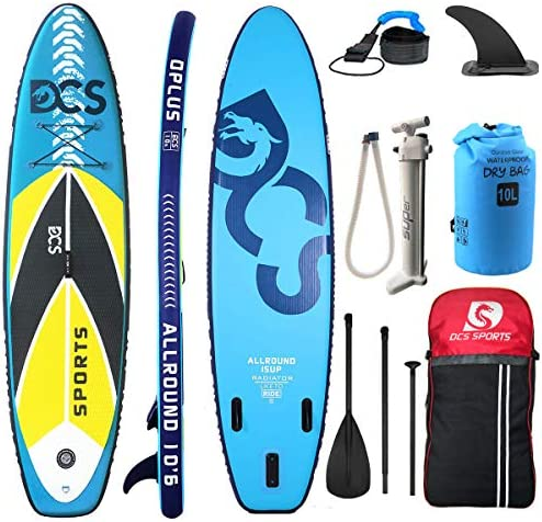 Airgymfactory Inflatable Stand Up Paddle Boards Premium SUP Accessories Carbon Fiber Adjustable Paddle Inflation and Deflation Double Action Bravo Pump 10 10 6 12 6