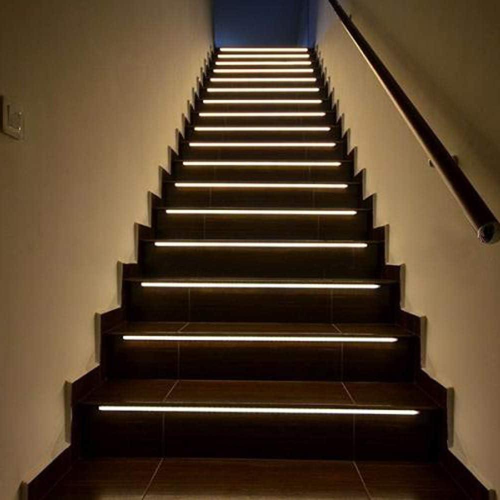 Posional Luces Creativas Inteligentes para Escalera Que se encienden Cuando Caminas con Ellas por la Noche luz de Inducción para Escalera: Amazon.es: Ropa y accesorios