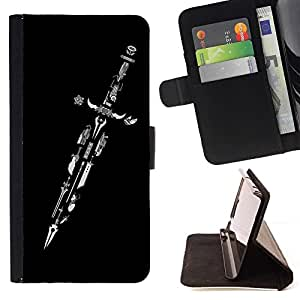 Momo Phone Case / Flip Funda de Cuero Case Cover - Dise?o Espada Maestra - Samsung Galaxy S3 III I9300
