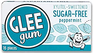 product image for Glee Gum Sugar-Free Peppermint, 1-Ounce (Pack of 12)