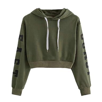 Womens Hoodie Sweatshirt Sale Toamen Letter Print Long Sleeve Casual Loose Hooded Pullover Top Blouse Drawstring Sportwear