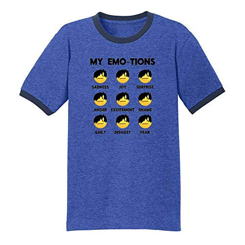Emo-JIS Emo Emojis Funny Faces Meme Royal/Navy 2XL Ringer T-Shirt