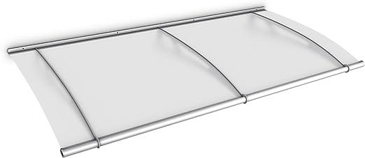 Wandhalter Classic Edelstahl V2A 4 mm Acrylglas klar Vordach mit Alu-Regenrinne 150 x 95 cm Schulte V1015-10-20 LT-Line Pultbogenvordach
