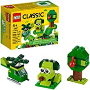 LEGO Classic Creative Green Bricks 11007 Starter Set Building Kit with Bricks and Pieces to Inspire Imaginativ