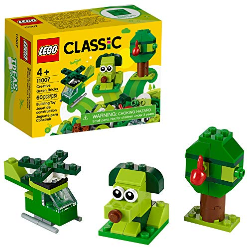🥇 LEGO Classic Creative Green Bricks 11007 Starter Set Building Kit with Bricks and Pieces to Inspire Imaginative Play
