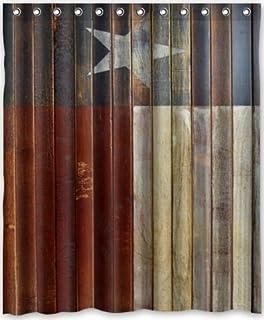 Special Design Western texas Star Waterproof Bathroom Fabric Shower Curtain,Bathroom  decor 60