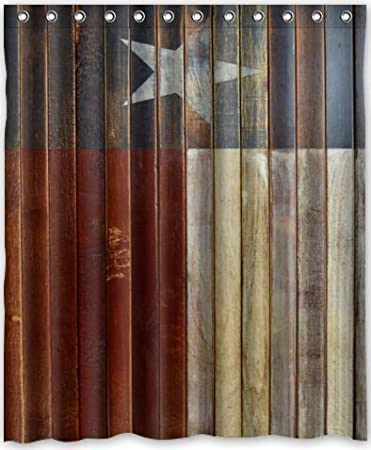 special design western texas star waterproof bathroom fabric shower curtainbathroom decor 60
