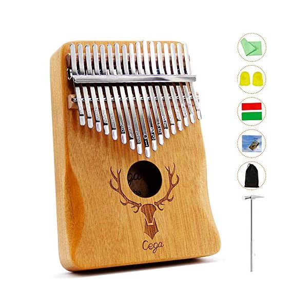Thumb Piano Kalimba 17 Key with Study Instruction And Tune Hammer Portable Musical Instruments Gifts for Adult Kids And Beginners