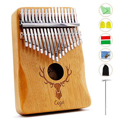 Thumb Piano Kalimba 17 Key with Study Instruction And Tune Hammer Portable Musical Instruments Gifts for Adult Kids And…