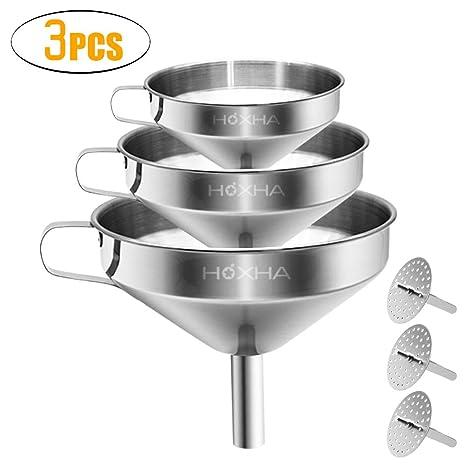 Amazon.com: Embudo de cocina de acero inoxidable con colador ...