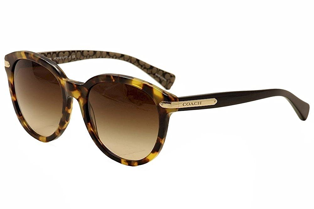90c53e5858 Amazon.com  Coach Womens L111 Sunglasses (HC8140) Burgundy Brown Acetate -  Non-Polarized - 55mm  Clothing
