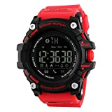 TOPCABIN Smart Sports Watch with Calorie Pedometer Bluetooth Call Low Power Remind For Men Women Red