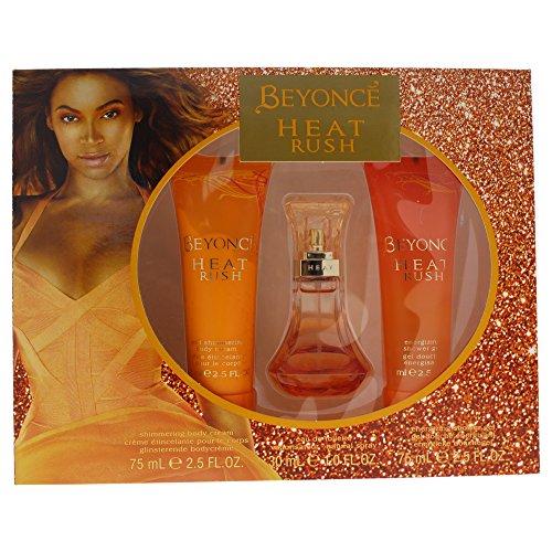 Beyonce Heat Rush 3 PC - 1.0 oz Eau de Parfum, 2.5 oz Shower Gel, 2.5 oz Body Lotion - Sensual Touch Parfum Gel