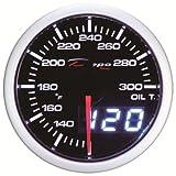Depo Racing 52mm Digital LED Oil Temperature Gauge Fahrenheit