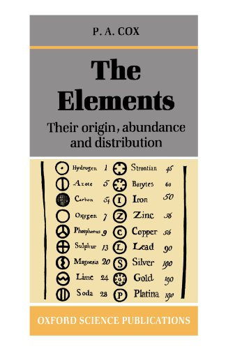 The Elements: Their Origin, Abundance, and Distribution