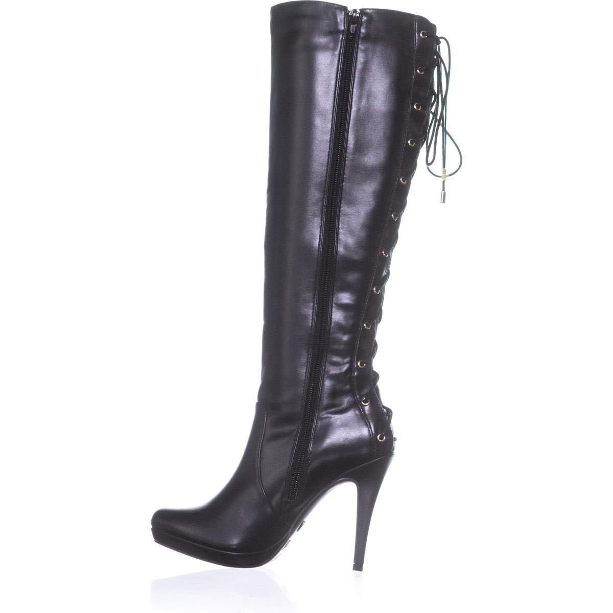 Thalia Sodi Womens Lanee Wide Calf Faux Leather Knee-High Boots