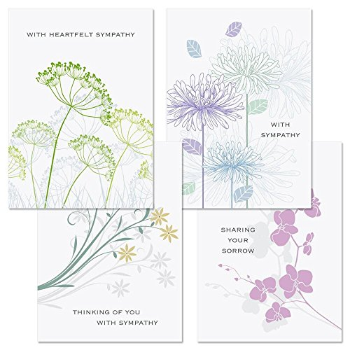 Love Remembered Sympathy Cards - Set of 8