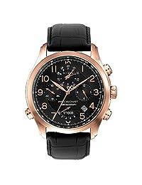 Bulova Precisionist Wilton Chronograph Rose Gold Plated Steel Mens Watch Calendar 97B122