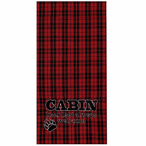 """Home Collection by Raghu ETRE0149 Bear Feet Lodge Towel, 18"""""""