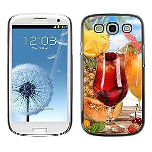 TopCaseStore / la caja del caucho duro de la cubierta de protección de la piel - Fruit Macro Fruit Cocktail - Samsung Galaxy S3 I9300