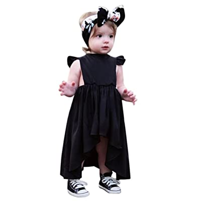 Goodlock Toddler Kids Fashion Dress Baby Girl Clothes Sleeveless Irregular Pageant Party Princess Dress