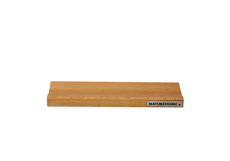 NATUREHOME Stiftschale Holz 19 cm x 6,4 cm Stiftablage Buche natur ge/ölt magnetisch SKRIPT