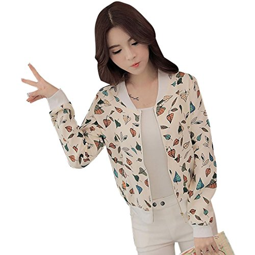 Ruched Flap (TAORE Women's Floral Lightweight Thin Ruched Sleeve Open-Front Blazer Jacket Coat (XL, Beige))
