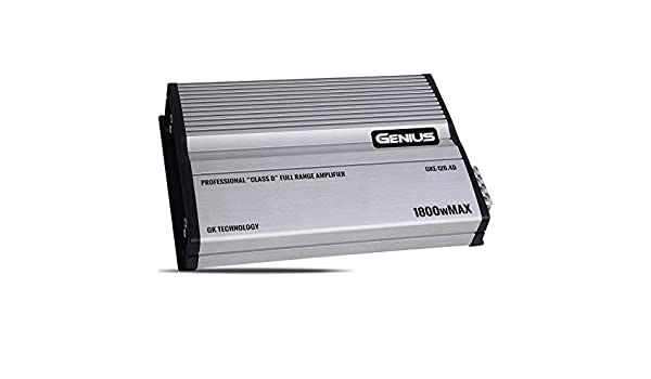 Genius GKE-120.4D 1800 Watts-MAX Compact Car Full Range Amplifier 4 Channel Class-D 2-Ohm Stable Frequency X10 Aricasa
