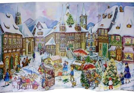 1958 Christkindlmarkt German Advent Calendar Christmas Countdown New Germany