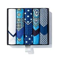 Luxury 5 Piece Pocket Square Handkerchief Assorted Premium Mens Gift Box Set