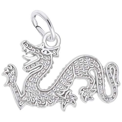 Rembrandt Charms Dragon Charm, 14K White Gold