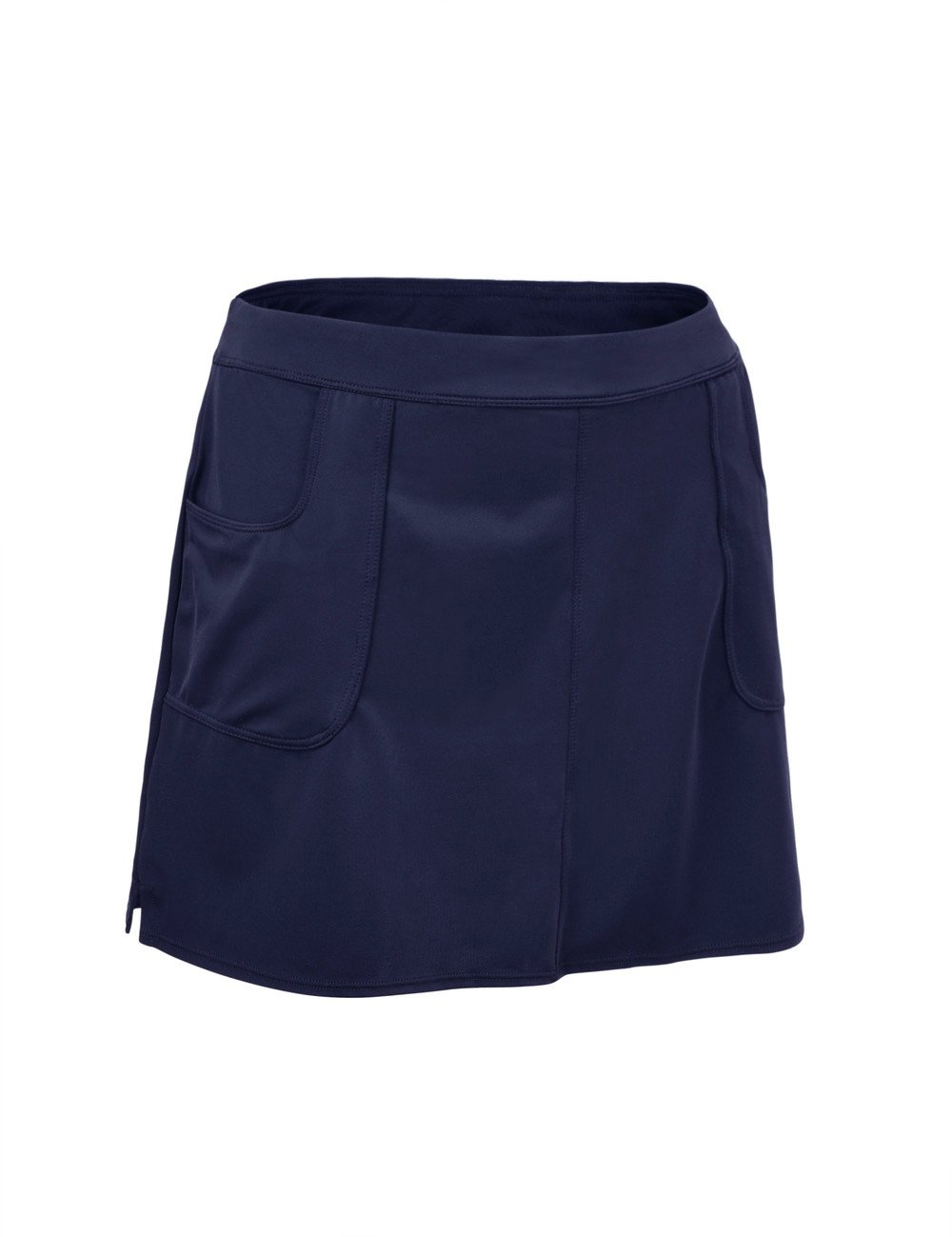 ninovino Womens Skirted Bikini Bottom High Waisted Solid Color Swim Skirt