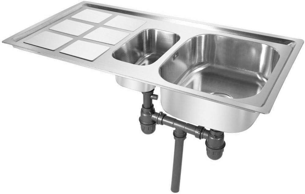 Lavabo Per Cucina Greensen Lavello Da Cucina In Acciaio Inox Finitura Spazzolata Lavabo Spazzolato Lavabo Per Cucina Normale E Montaggio A Filo Lavabo Da Incasso Reversibile Impianti Per La Cucina Fai Da
