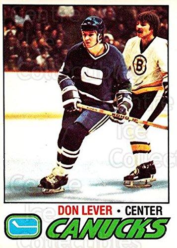 (CI) Don Lever Hockey Card 1977-78 O-pee-chee (base) 111 Don Lever