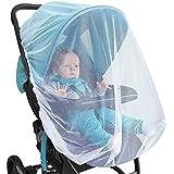 PUBAMALL Mosquitera, para cochecitos de bebé, portabebés, cunas de asientos,Cobertura Total (Blanco, 150CM)