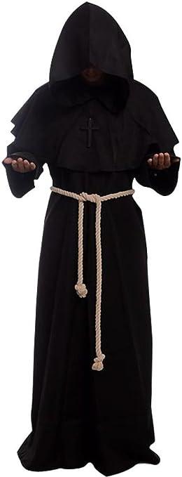 Amazon.com: Bata de sacerdote, monje o fraile de disfraz ...
