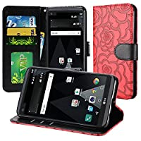 HR Wireless Cell Phone Case for LG LV3 - Red