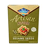 Blue Diamond Almond Artisan Nut Thins Cracker Crisps, Sesame Seeds, 4.25 Ounce