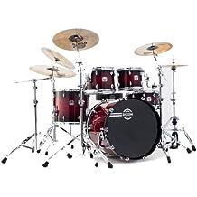 Dixon Blaze PODBZ522STBR 5-Piece Drum Set, Gloss See Through Red Burst