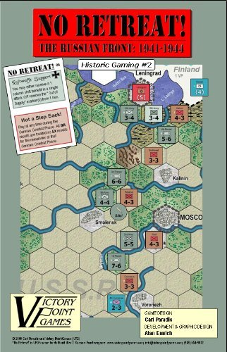 No Retreat! 1 The Russian Front: 1941 - 1944 - Historic Gaming #2 War Board Game (No Retreat Board Game)